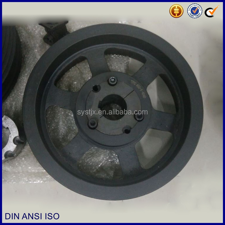 Middle transmission speed belt system cast iron pulley