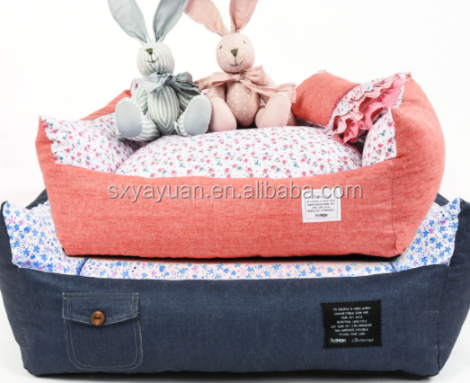 new design suede fabric +plush dog bed,pet shop products