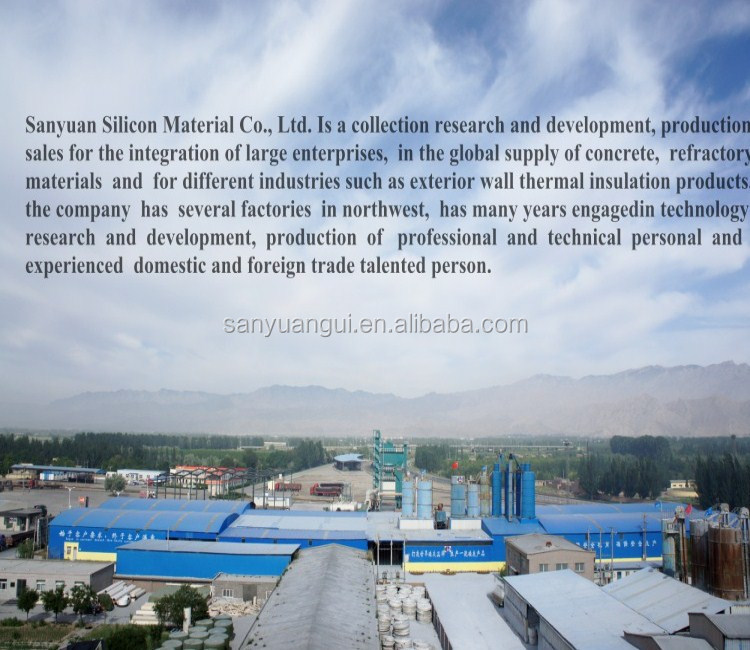 Silica fume/microsilica for concrete and refactory