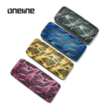 Unique design lightning pattern eyeglasses case cool metal sunglasses case