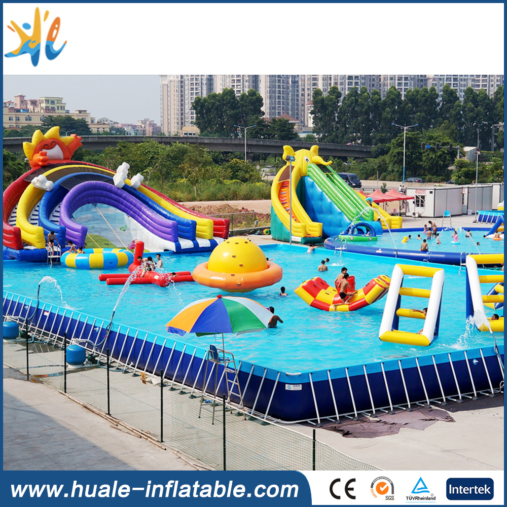 Above ground swimming pool metal frame/rectangular above ground swimming pool for sale