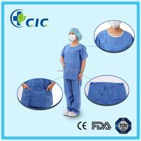 On sale! Disposable nonwoven unisex medical surgical designer scrub suits