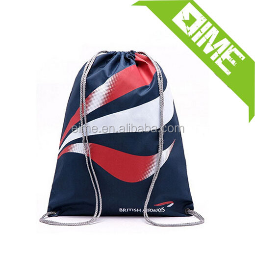 Alibaba China hot sale nylon gym sack,gym sack drawstring bag