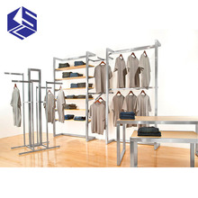 Attractive designs retail shop fittings t-shirt display stand clothing store fixtures for sale