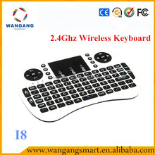 Hot selling prodcuts Mini bluetooth 2.4g air mouse keyboard rri8 air mouse with hebrew keyboard for smart tv