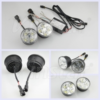 Round shape 12V Auto LED DRL light 24V LED Daytime Running Light for Trucks Fog Light for all cars B.M.W/V.W/For Jeep