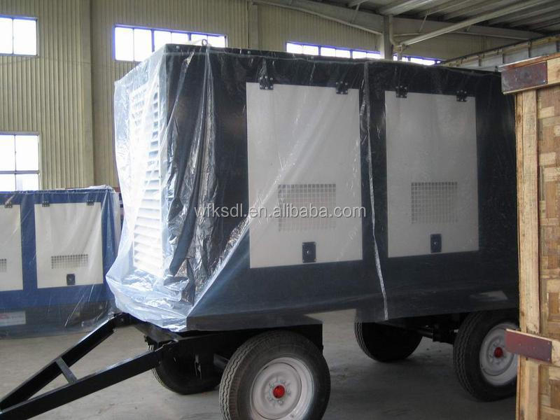 weifang factory price high quality trailer type generator, small silent diesel generator