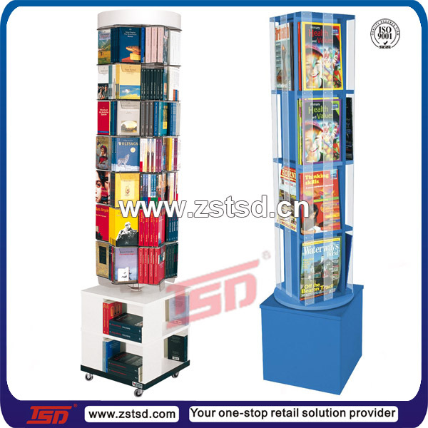 Tsd W515 Custom Free Standing Rotating Mdf Wooden Book