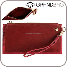 slim blinking trim plain leather small wristlet clutch pouch clutch purse hand bad for ladies