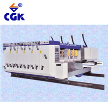 YKM Series 4 color machine making production line cardboard carton flexo printing machinery