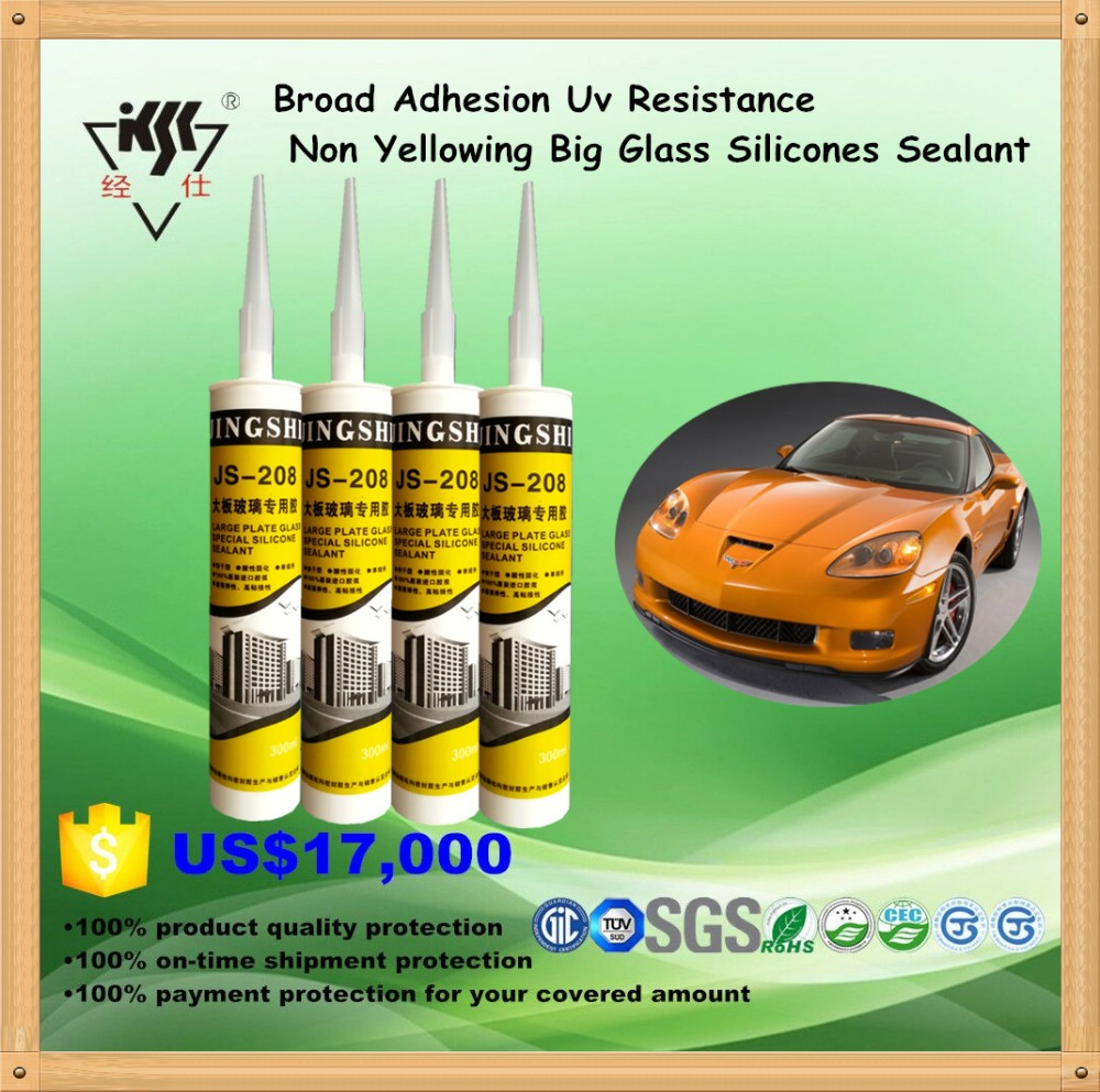 Broad Adhesion Uv Resistance Non Yellowing Big Glass Silicones Sealant