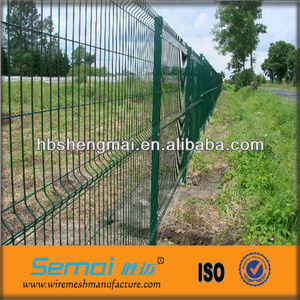 Welded curved fence/Nylofor 3D/plastic fence panel