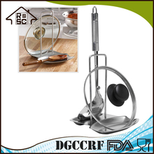 High Quality Stainless Steel Pot Lid and Spoon Holder, Kitchen Spoon Rest