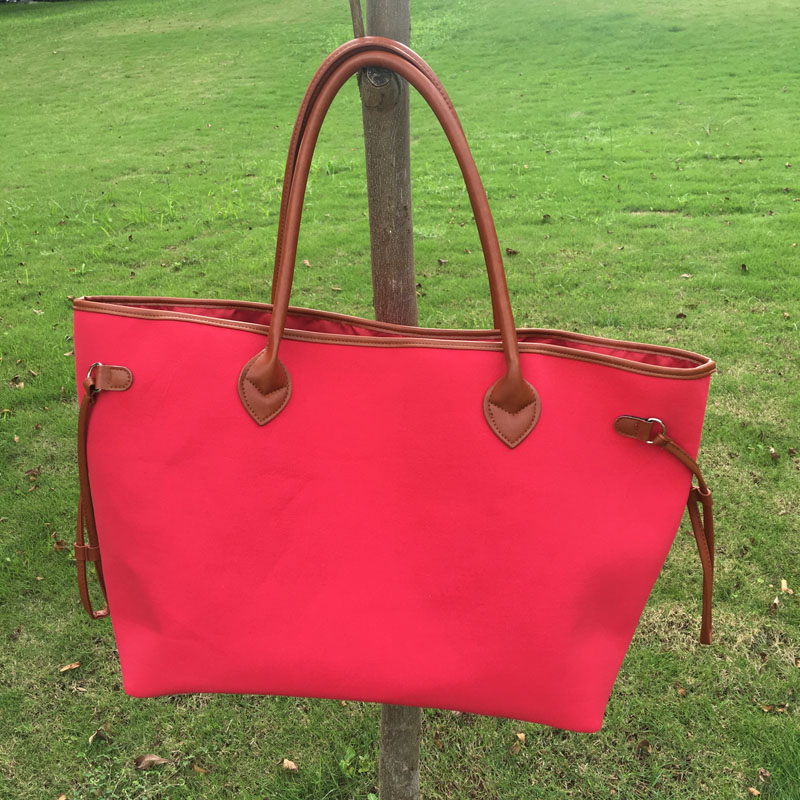 Wholesale Blanks red Tote Bag Large Shopping Bag Casual <strong>Travel</strong> Tote Handbag DOM 107148
