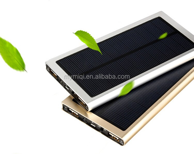 MIQ usb mobile phone solar charger charger station solar power bank 8000mah