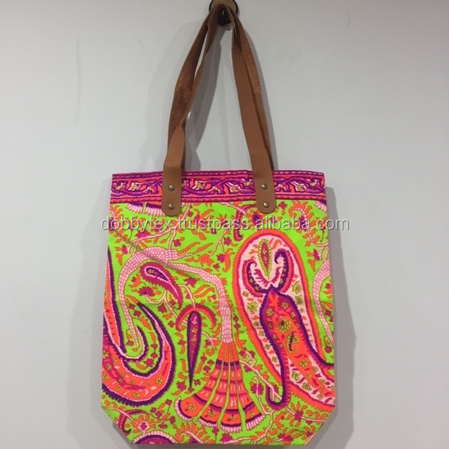 Best selling Print Neon Canvas Tote Bags