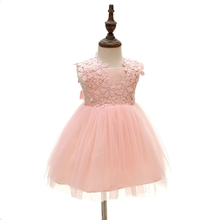 Baby Girl Christening Flower Frivolous Breathable Princess Dress