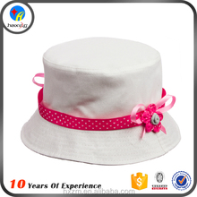 High quality cotton fabric kids plain bucket hats