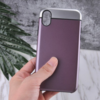 4 Colors Double Color Splice TPU+PC Hard Drawing Pattern Case for iPhone X