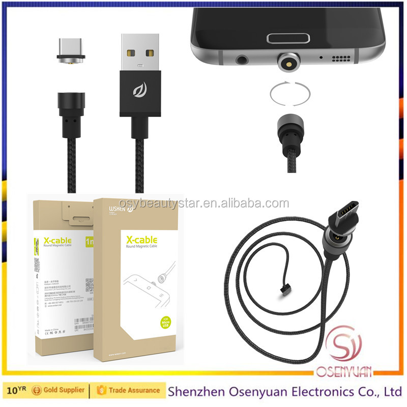 USB Adapter Charger Cable Mobile Phone Magnetic Charging Cable for Android
