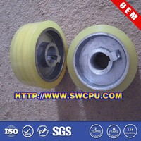 Custom made large diameter 7 inch rubber wheel