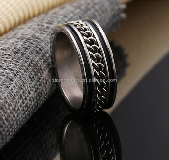 New desige unique stainless steel jewelry Casual/Sporty Round Chain Link biker finger Rings for men