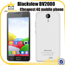 2016 Cheapest 4G LTE Mobile phone 5inch Blackview BV2000 Android 5.0 Quad core MT6735P