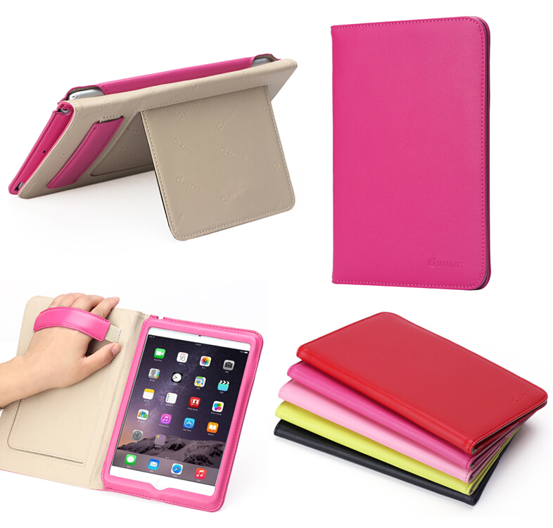 for apple ipad mini genuine leather case,handhold case for ipad mini4 with stand