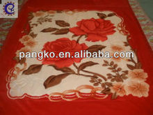 India type 100% polyester baby blanket