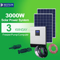 BESTSUN 3kw solar power system for home BPS-3000M with new inverter with built-in MPPT controller