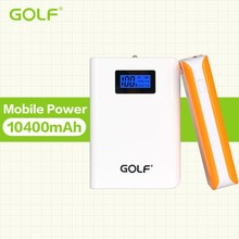 Golf 10400 mAh portable external mobile power bank with LED display