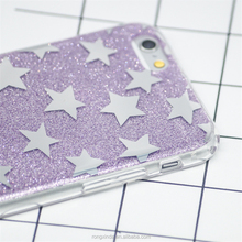 Trends Hot Selling Bling Star Printing TPU Glitter Case mobile Phone Case for apple iphone 7 for huawei smart phone