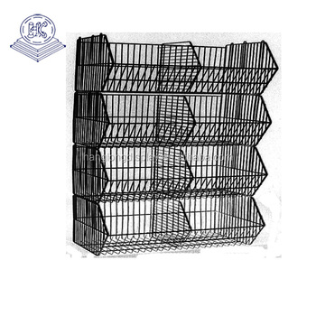 Metal basket storage wire shelving HL076G