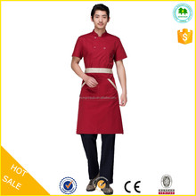 2015 OEM factory fashion red uniform for receptionist hotel wholesale