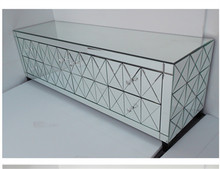 Glass TV Stand/ mirrored buffet