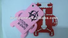 Fashion design cute Robot Silicone Case&Cover&Skin for mobie phone for iphone4/4s