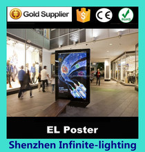 1.2m*1.8m el display e-ink billboard advertising for Subway and bus station, Can Do Any Design
