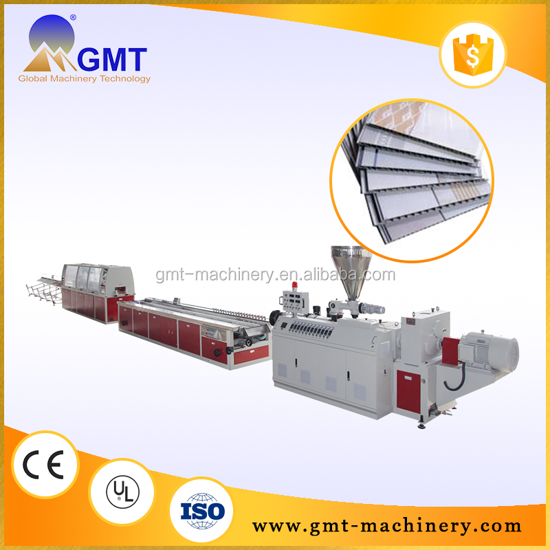 Small size pvc plastic profile fence making machine extrusion line