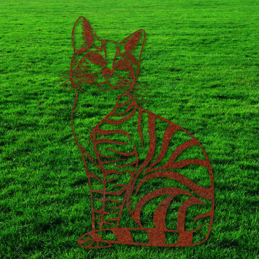 Corten Steel Outdoor Rusty Cat Garden Decor/cat Rusty Metal Decorations