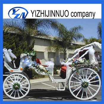 Yizhinuo 2 rows sightseeing horse carriage for wedding tourist cart/wagon