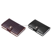 Men Mini Wallet Genuine Leather RFID Safe Card Case for max 12 cards