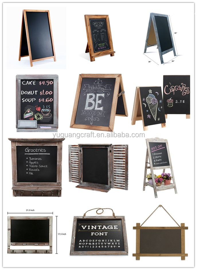 Rustic Torched Wood Tabletop Chalkboard / Vintage Wedding Table Sign