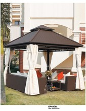 the most popular aluminum frame outdoor rattan gazebo 3X3m DR-1102/ outdoor furniture garden rattan gazebo set