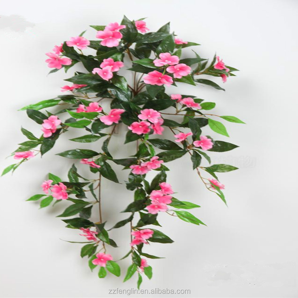 Real Touch Cheap Hanging Artificial Flower Vine Wall