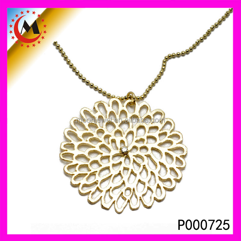 FLOATING CHARMS EUROPEAN ROYALTY GORGEOUS FILIGREE PENDANT IN 24K GOLD