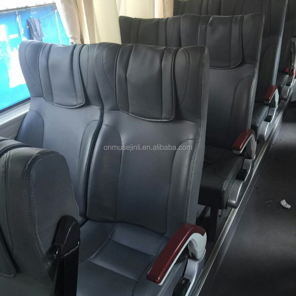 bus seat/van seat/boat seat with back food tray and leather fabric cover JLD01