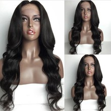 Hot selling factory stock 100% unprocessed brazilian full lace human hair wig