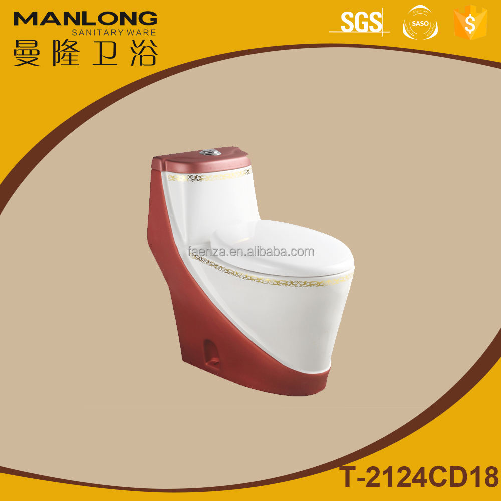 Toilet red color washdown water system toilet China suppliers
