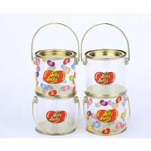 Wholesale clear paint cans food plastic container for candy