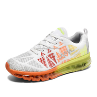 OEM New models max quality 2016 style air Cushion Breathable Mesh Light Rainbow running shoes Flyknit Sneaker Sport Shoes